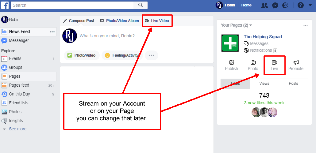 How to Live Stream on Facebook from your Desktop with OBS 2020-1