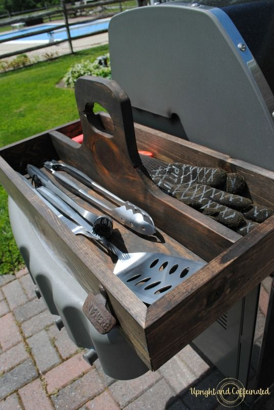 How to Make a Garden Toolbox - Grill Caddy-2