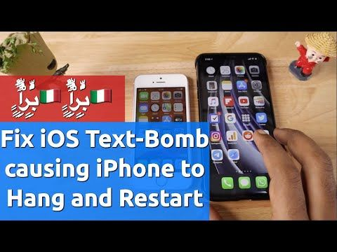 iPhone Text-Bomb Hang and Restart Problem | How to Fix or Recover?-0